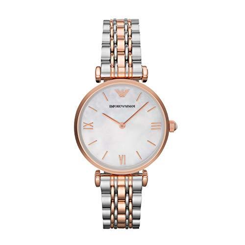 Emporio Armani Damen Analog Quarz Uhr mit Edelstahl Armband AR1683