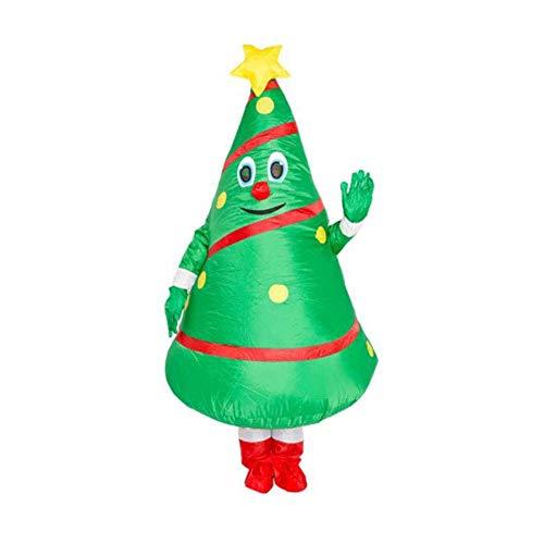 Adult Weihnachten Aufblasbare Baum Kostüm Unisex Cosplay Inflatable Lustige Festive Anzug Grün 8bayfa