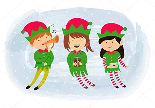 supmsds DIY-Pittura Digitale Elf Clipart Natale Serie 43 Decorazione per la casa Fai da Te Digitale Pittura ad Olio Tela Kits Regali per Bambini e Adulti