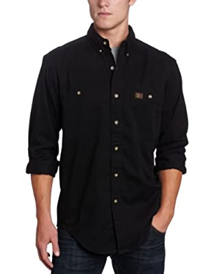 Wrangler Riggs Workwear Men's Logger Shirt,Black,Medium/Regular