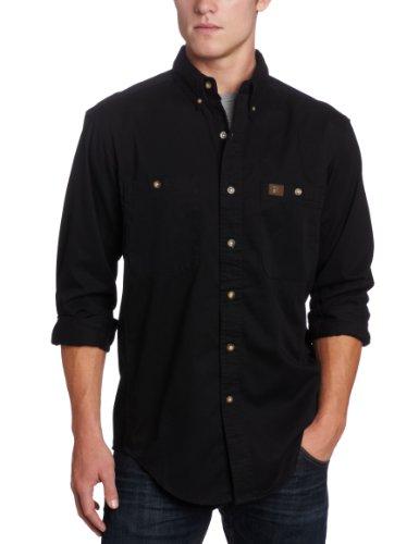 Wrangler Riggs Workwear Men's Logger Shirt,Black,Large/Regular