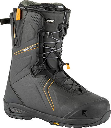Nitro Herren Capital TLS Boot´21 Snowboardboot, Black-Orange, 300