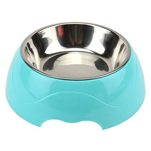 Hond Vaatwasser, Hond Water Bowl RVS PP Base Bowls Voedsel Feeder Huisdier Voedsel Houder Milieuvriendelijk voor Honden Katten, Bowl Diameter: 17CM Blauw