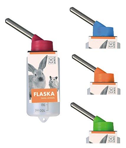 Kleintiertränke Nagertränke aus Kunststoff - FLASKA - 100 ml für Hamster & Gerbils