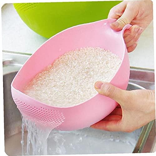 1pc Arroz Frijoles Guisantes Lavado Filtro Colador Verde Rosa Color Cesta Tamiz Drenador Limpieza Color a Azar