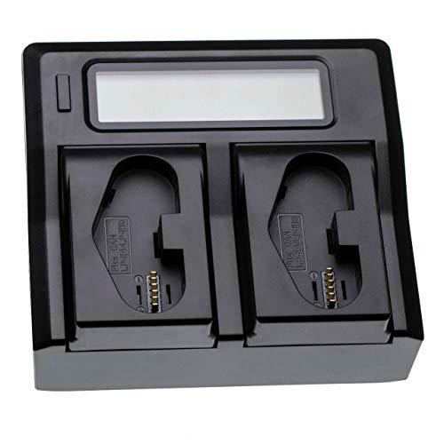 vhbw Cargador, Soporte de Carga Doble Compatible con Canon EOS 1Ds Mark III, 1DX baterías cámaras Digitales, videocámaras, DSLR, cámaras de acción