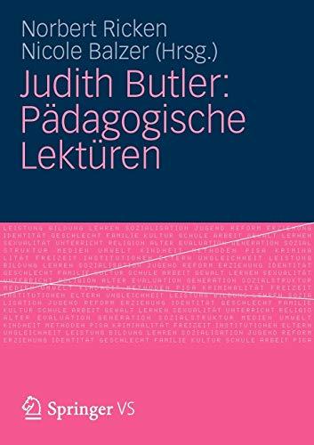 Judith Butler: Pädagogische Lektüren (German Edition)