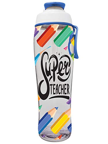 50 Strong Bottle Teacher Water - bpa frei für Lehrer - give Flaschen danken as You Geschenke - Zeigen Anerkennung für Lehrer - Easy Loop-Carry - (. superlehrer, 30 unzen)