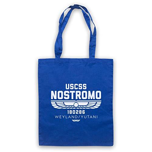 Inspired Apparel Inspirado por Alien USCSS Nostromo 180286 No Oficial Bolso, Azul...
