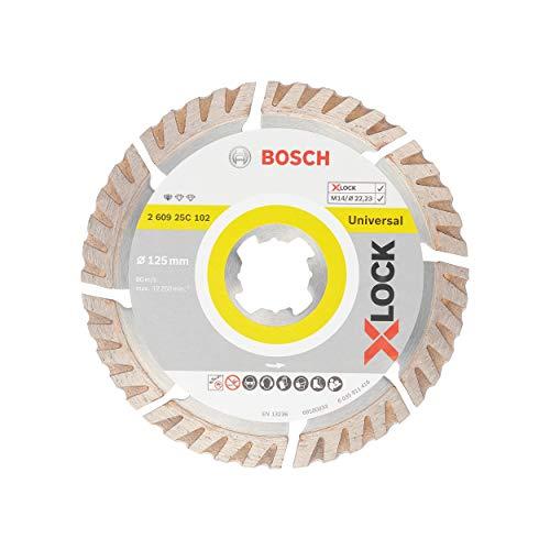Bosch Professional Diamant Trennscheibe Standard for Universal (X-LOCK, Scheibe Ø 125 mm, Bohrung Ø 22,23 mm, Dicke 2 mm, Zubehör Winkelschleifer)
