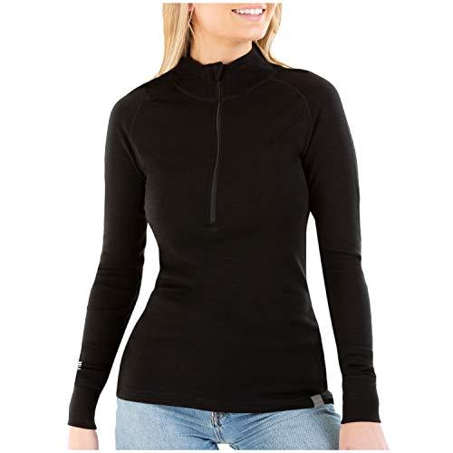 MERIWOOL Womens Base Layer 100% Merino Wool Midweight 250g Half Zip Sweater for Women