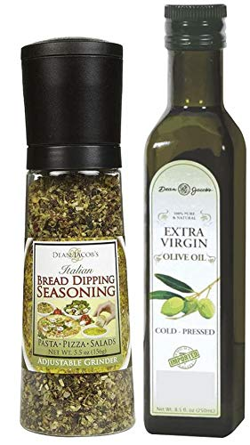 Dean Jacob's Jumbo Grinder Bread Dipping Seasonings and Olive Oil