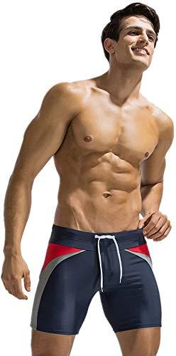 Samanthaa Trunks - Bañador para hombre y mujer, pantalones de buceo, pantalones de yoga, para playa, aguas termales (color: azul, talla: XL)