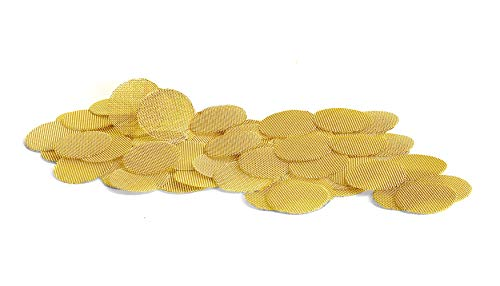 1″ Brass Pipe Screens   Made in The USA Pipe Screen Filters – 50 Pack