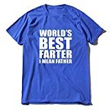 World'S Best Farther I Mean Father Funny Dad Logo T-Shirt Father's Day Gifts Men's Short Sleeve T-Shirt 100% Cotton tee Oversize