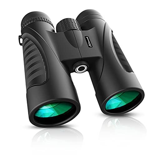 Binoculars, 12x50 Binoculars for Adult, Waterproof Binoculars - Powerful Binoculars with Clear and Durable BAK-4 Prism FMC Lens for Bird Watching, Travel, Hunting, Concerts, Football.