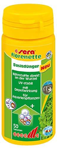 Sera FLORENETTE A 50 TABS - Fertilizzante per Piante d'Acqua Dolce, con deposito di Sostanze nutritive alle Radici