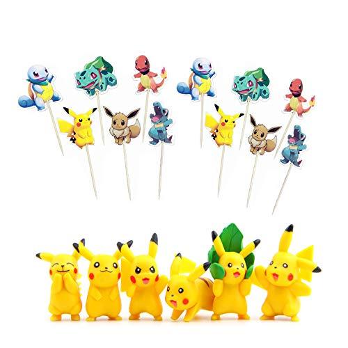 78 PCS Cake Topper,Figurilla Decoración Tarta, decoración para tartas, fiesta de cumpleaños, figuras de cupcake, decoración de cumpleaños para niños, decoración para magdalenas