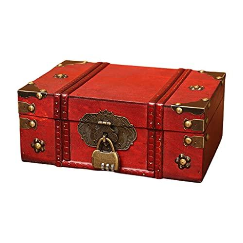 YU-HELLO 1 caja de almacenamiento de madera grande hecha a mano, caja de almacenamiento de madera, caja de almacenamiento de libros, organizador de tesoro, caja de almacenamiento de madera pequeña