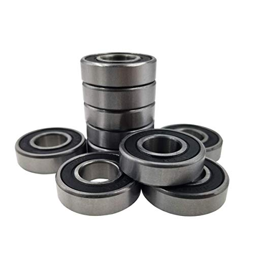 "Sackorange 10 PCS R8-2RS(1/2""x1-1/8""x5/16"") C3 Premium Sealed Radial Ball Bearing - Deep Groove Bearing - High Speeds - Suitable for Electric Motor Applications"