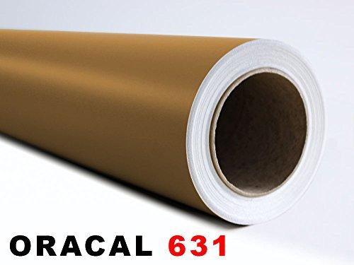 GRAZDesign Oracal 631 plakfolie – zelfklevend voor meubels en geschikt voor het ploten Afmetingen 5 m x 63 cm in 091 Gold