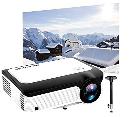 Native 1920X1080P Proyector de película con montaje en techo 6000L Full HD Proyector de vídeo de 300 pulgadas Pantalla 4K compatible...