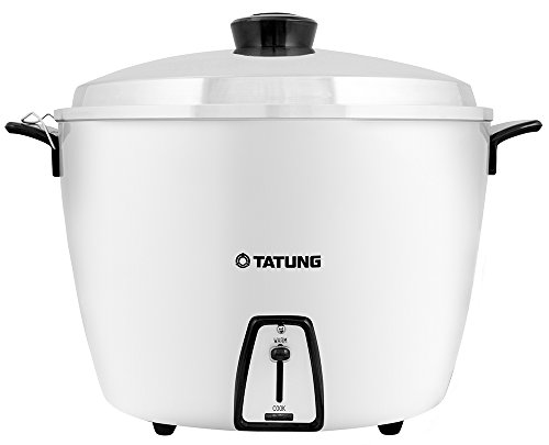 Tatung TAC-20 20 Cup Multi-Functional Aluminum Rice Cooker, White