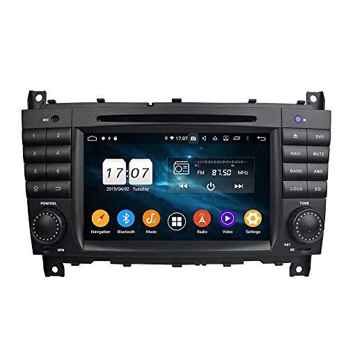 JALAL Android 10 Auto Radio Unidad Principal de navegación GPS para Benz C-Class W203 2004-2007 Sat Nav Reproductor Multimedia Pantalla multitáctil Soporte SWC Control de teléfono Receptor de Video