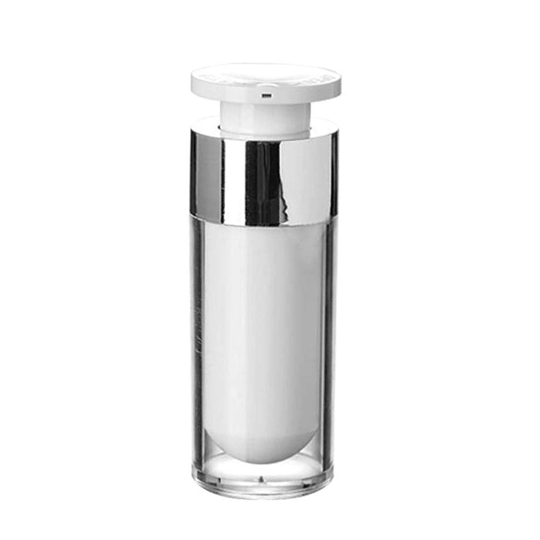 刺繍トランスミッション自信があるOBEST 詰め替えボトル 真空ボトル ポンプタイプ エアレス プッシュボトル 乳液 小分け容器 プラスチック 携帯用 花粉対応 旅行用(30ML) (ポンプ式)