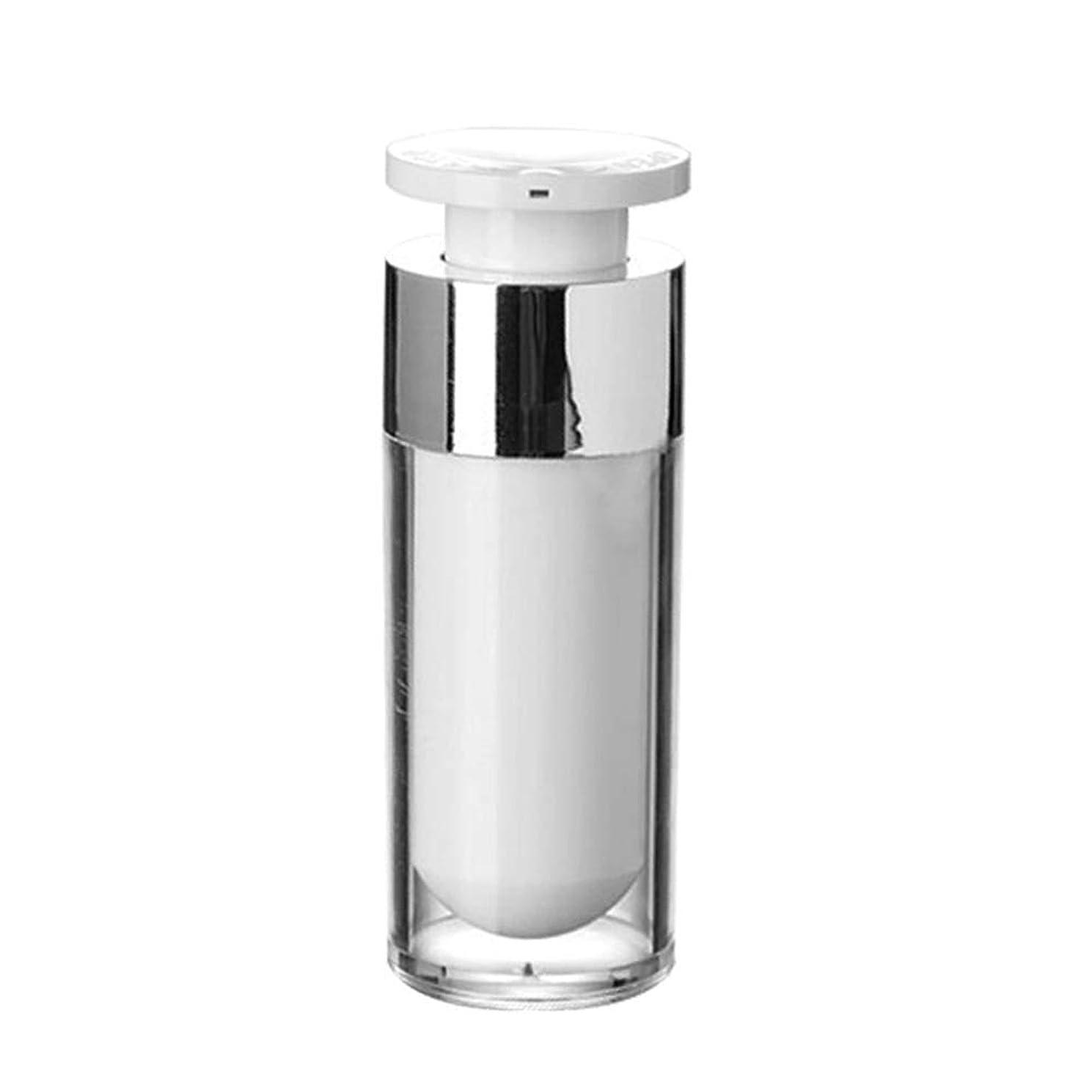 認可論争的シミュレートするOBEST 詰め替えボトル 真空ボトル ポンプタイプ エアレス プッシュボトル 乳液 小分け容器 プラスチック 携帯用 花粉対応 旅行用(30ML) (ポンプ式)