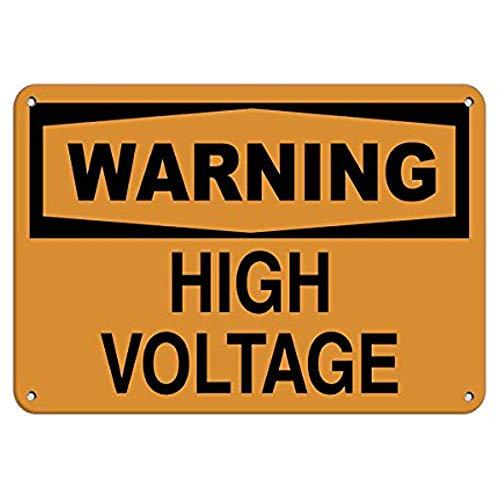 Judascepeda Señal de Advertencia Advertencia Señal de Peligro de Alto Voltaje Etiquetas de Peligro Señal de tráfico Señal Comercial 12 x 16 Pulgadas Cartel de Chapa de Aluminio y Metal Z0422