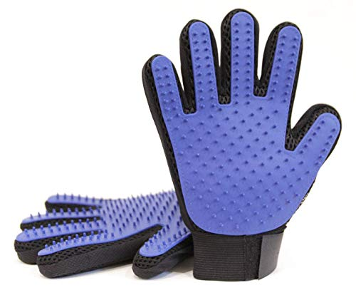 NEXPAW Pet Grooming Glove - Best for Dogs and Cats for Deshedding and Hair Removal Brush. 1 Pair (Left & Right)