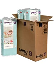 Bambo Nature rozmiar 4 wysokiej jakości ekologiczne pieluszki (15-31 lb/7-14 kg) 3 x wysokie opakowanie 48 sztuk (oszczędność walizki)
