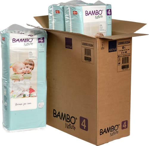 Bambo Nature Pannolini ecologici premium, maxi taglia 4 (7-14 kg)
