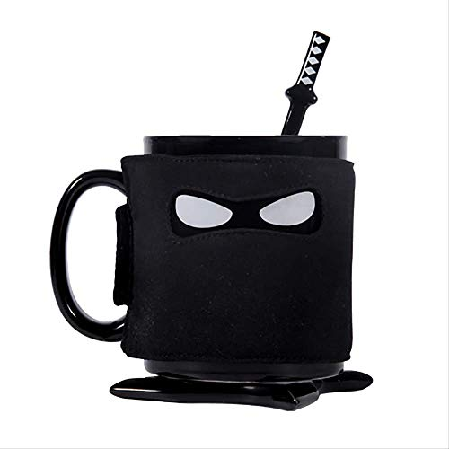 Creatieve Ninja Mok, Zwart Masker Assassinate Koffie Keramiek Ninja Bekers