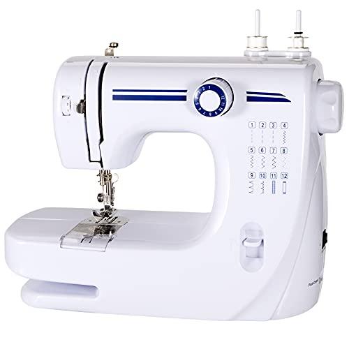 Machine à coudre,Machine à coudre électrique,Petite machine à coudre,12 points 2 vitesses avec pédale Parfait pour les Produits de couture, avec kit de couture