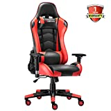 JL Comfurni Gaming Chair Racing Style Ergonomic Swivel Computer Office Desk Chairs Adjustable Height...
