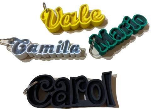 LEOANDMENA Llavero en 3D flotantes para nombre o un texto personalizado