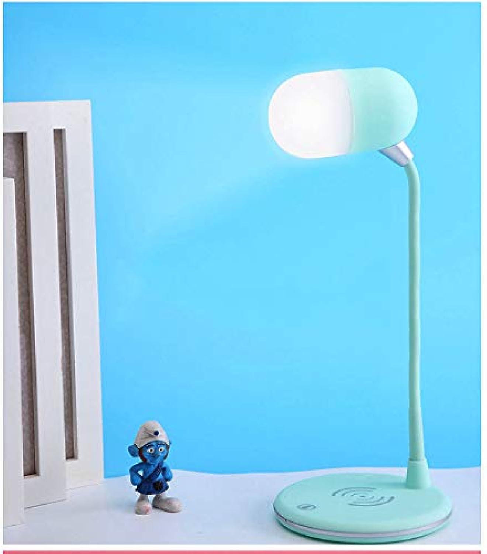 Blautooth Lautsprecher Wireless Charger, Portable Lautsprecher Boombox Wireless Speaker Box mit LED-Licht Home,Blau