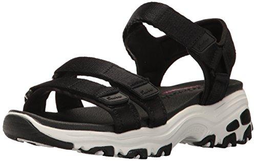 Skechers Damen D'lites - Fresh Catch Keilabsatz-Sandale, schwarz, 37 EU