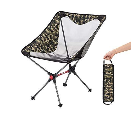 C/H Silla de camping ultraligera plegable para acampar, mochileros, senderismo o caza, plegable y compacta y sillas caben en una mochila plegable portátil para exteriores, playa, viajes, picnic