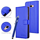 VA For Samsung Galaxy J4 Plus Phone Case Leather Magnetic