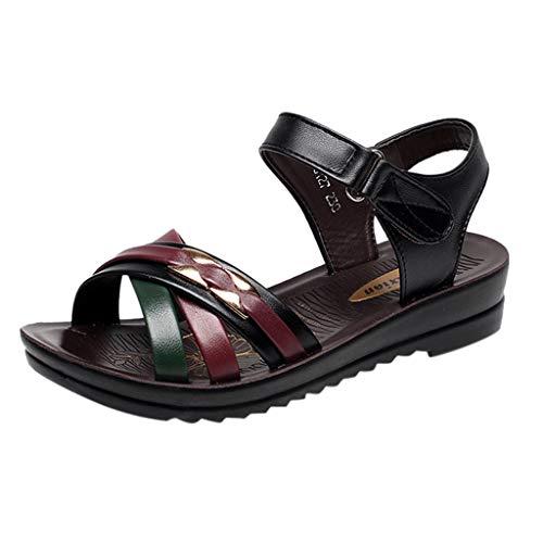 showsing-shoes , Damen Sandalen, Blau - Schwarz - 2 - Größe: 39 EU