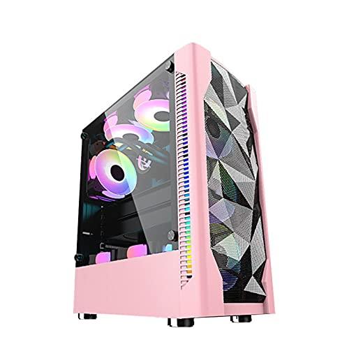 KDR Caja Gaming RefrigeracióN LíQuida, Caja para Host de Ordenador, Estuche ATX, Soporte ATX, Micro-ATX, ITX, 8 × Ventilador, SSD + HDD