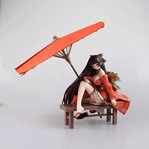 Xfwj Girl Model Characters inheemse Tony HandmadeTemptation Geisha Flower Girl Learning Kimono Umbrella Model Gift Crafts Collection Souvenir