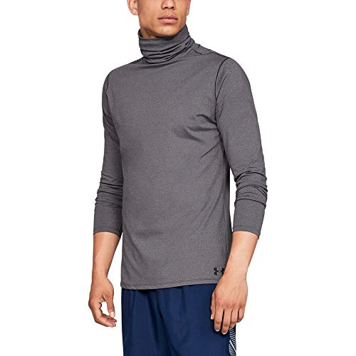 Under Armour Fitted CG Funnel Neck T-Shirt à Manches Longues Homme, Charcoal Light Heather, FR (Taille Fabricant : LG)