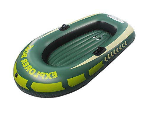 ALPEKE Fishing Inflatable Boat, Starter PVC Inflatable Boat for Pool Inflatable Kayak Rowing Air Boat for Adult and Kids, for 2-Person