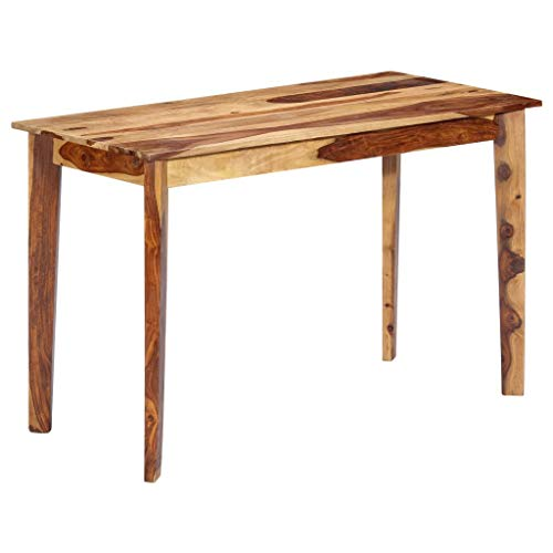 Tidyard Gartentisch Holz Wetterfest, Esszimmertisch Esstisch Quadratisch Balkontisch Terassentisch, Geeignet für Drinnen und Draußen, 118×60×76 cm Massivholz Sheesham