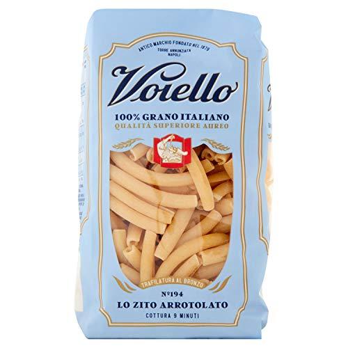 Voiello Pasta Ziti Arrotolati Semola di Grano Aureo 100% Italiano, 500 gr