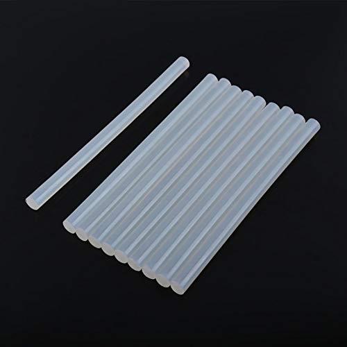FMN-DJU 10 stuks 7 mm 11 mm transparant Hot Melt lijm voor elektrisch hete lijmpistool 20 cm lengte DIY lijm reparatie gereedschap accessoires 7mm